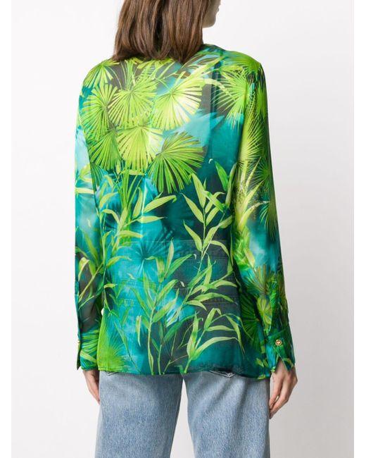 Versace メデューサ タイダイ Tシャツ Green