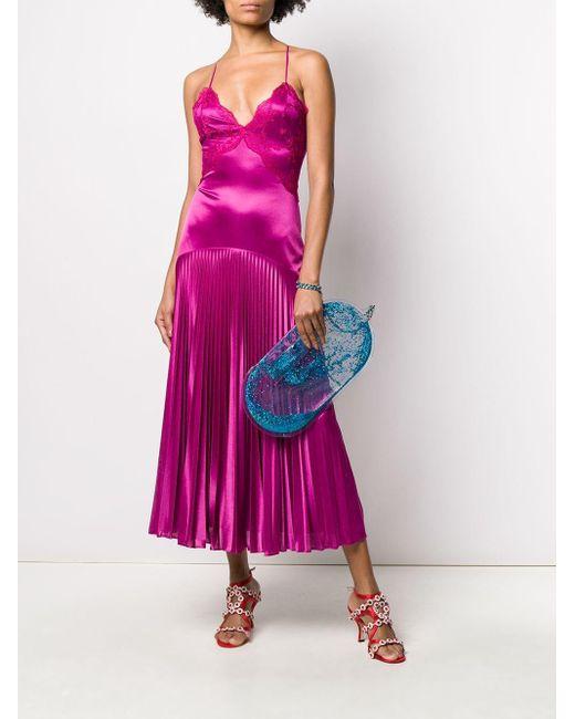 Christopher Kane レース プリーツドレス Pink