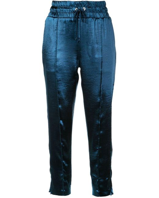 Cinq À Sept Pantalones de chándal Adalie de mujer de color azul