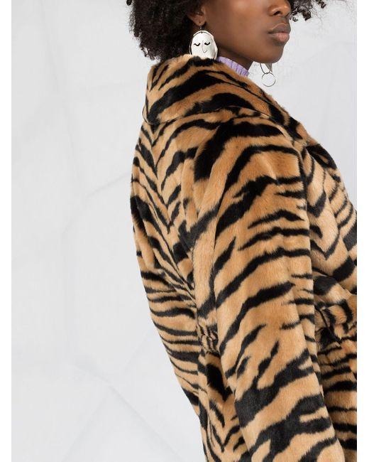Шуба Из Искусственного Меха С Тигровым Принтом Stand Studio, цвет: Multicolor