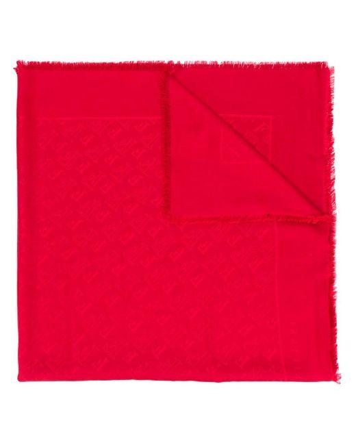 Fabiana Filippi モノグラムプリント スカーフ Red