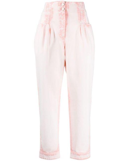 Alberta Ferretti クロップド デニムトップ Pink