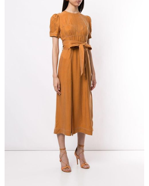 Alice McCALL Eyes On You タイウエスト ドレス Brown