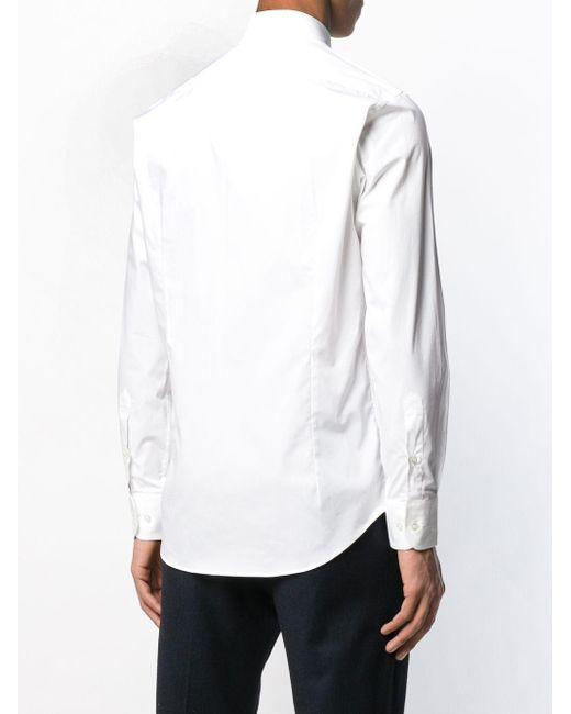 Однотонная Рубашка На Пуговицах Etro для него, цвет: White