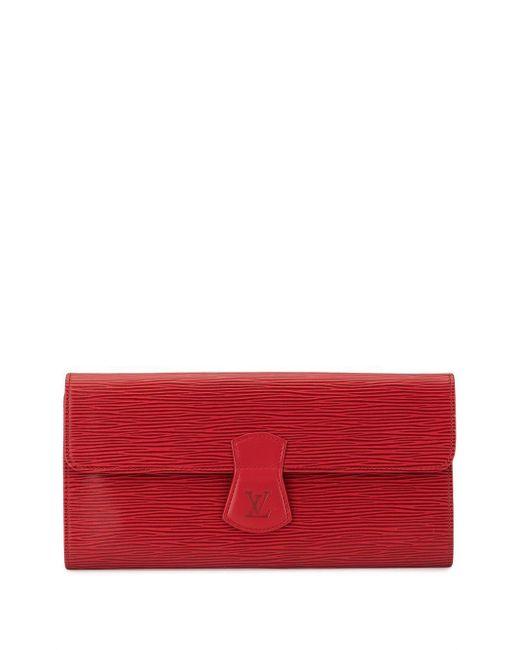 Louis Vuitton 1992 ビジュー ブローチ Red