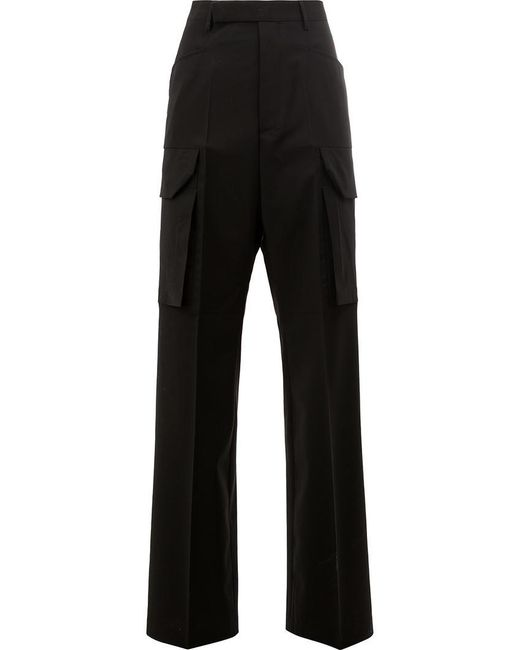 Rick Owens - Black Straight Trousers - Lyst