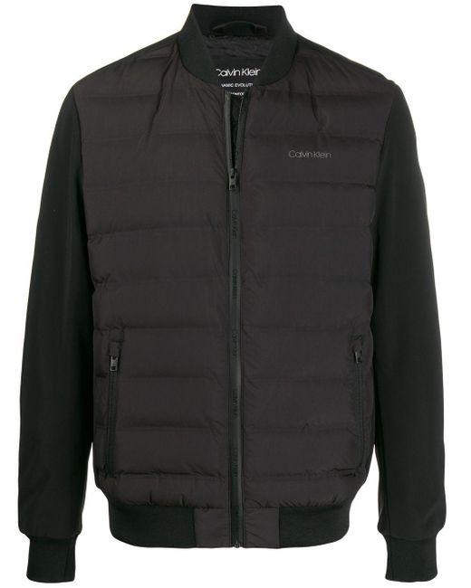 メンズ Calvin Klein パデッド ボンバージャケット Black