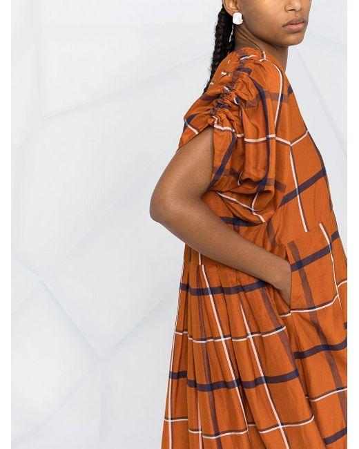 Henrik Vibskov チェック ドレス Orange