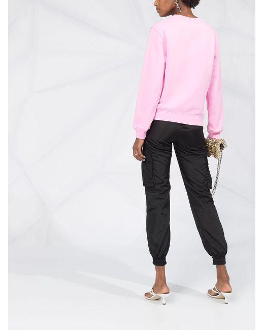 Moschino プリント スウェットシャツ Pink