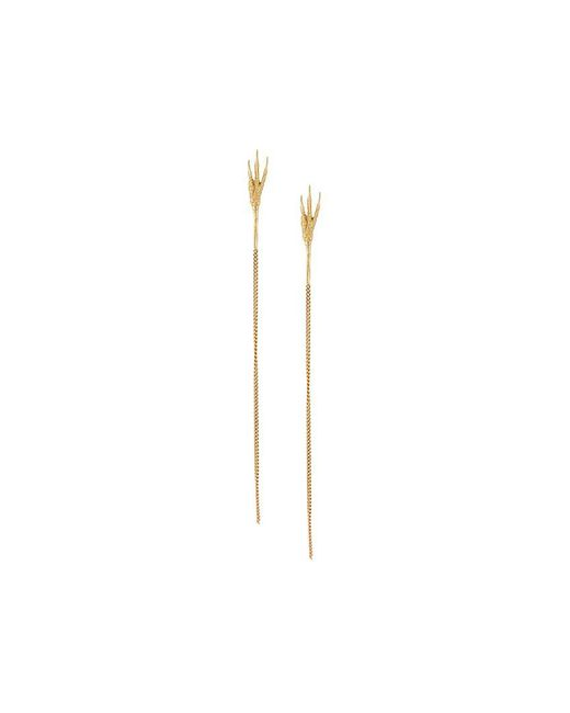 Wouters & Hendrix - Metallic 18kt Yellow Gold 'crow's Claw' Long Earrings - Lyst