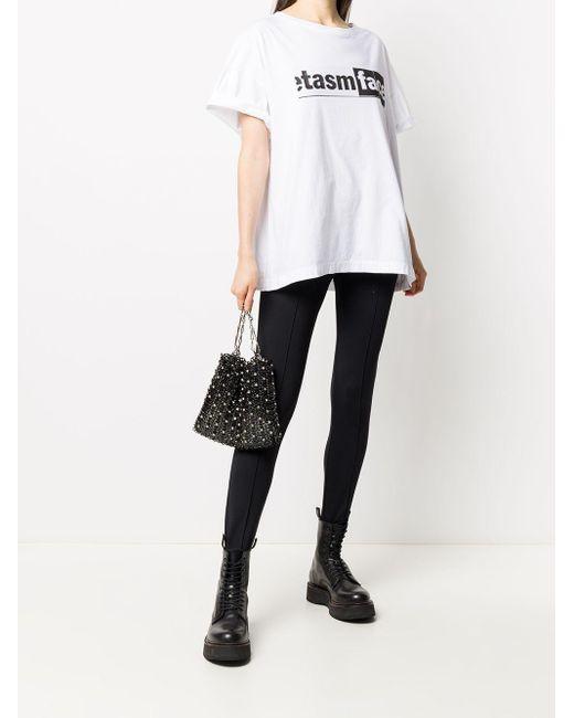 メンズ Facetasm ロゴ Tシャツ White