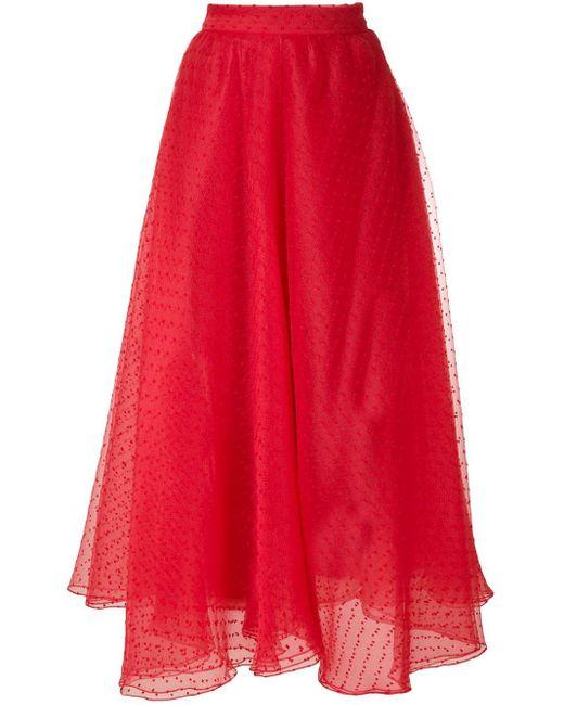 Gloria Coelho フレアスカート Red