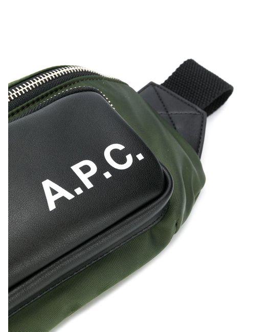 メンズ A.P.C. Camden カラーブロック ベルトバッグ Green