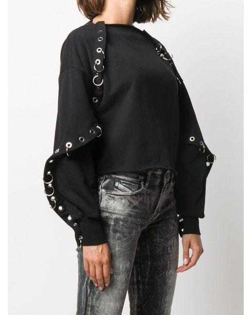 DIESEL デコラティブ スウェットシャツ Black