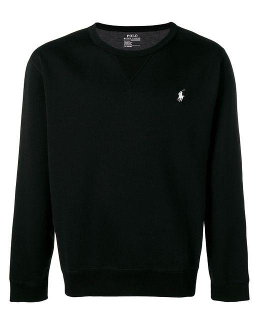 メンズ Polo Ralph Lauren コントラストロゴ セーター Black