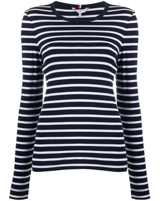 Tommy Hilfiger ストライプ Tシャツ Blue