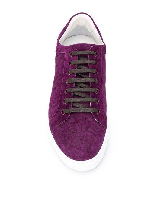 Кеды С Узором Пейсли Etro для него, цвет: Purple
