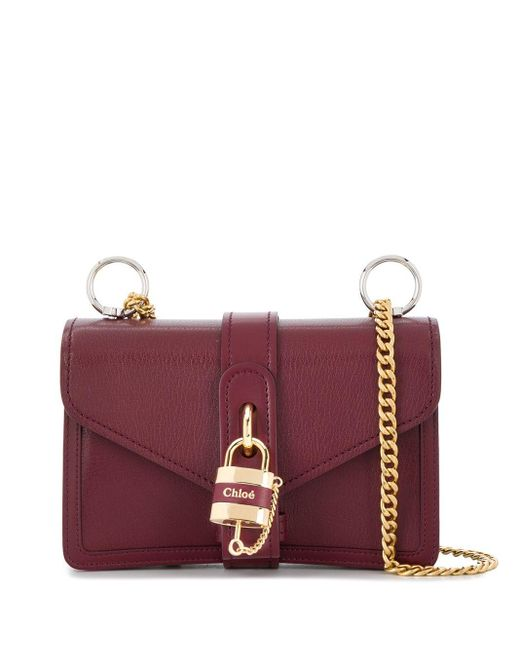 Chloé Aby チェーン ショルダーバッグ Red