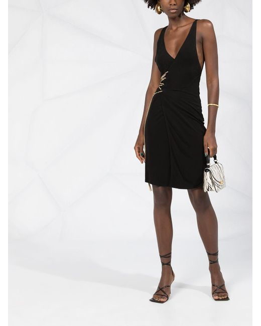 DSquared² チェーンディテール ラップドレス Black