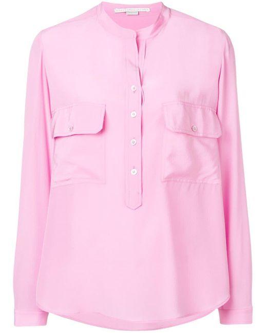 Stella McCartney ノーカラーブラウス Pink