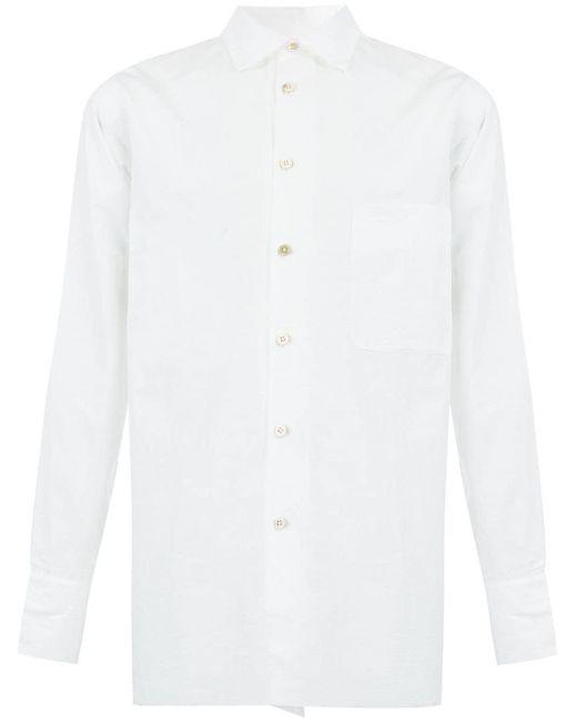 メンズ Ziggy Chen オーバーサイズ シャツ White