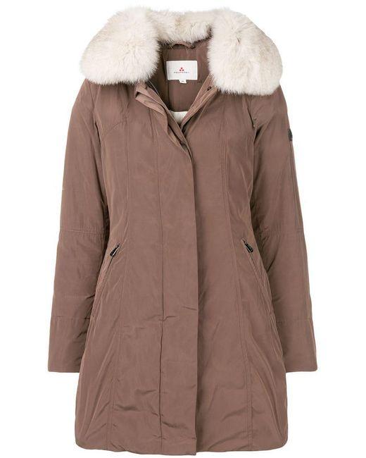 Peuterey - Brown Fur Trim Parka - Lyst