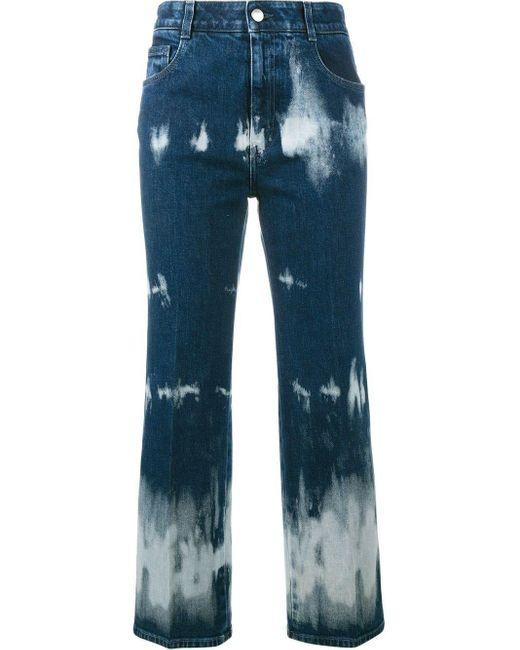 Stella McCartney Blue Tie-dye Cropped Jeans