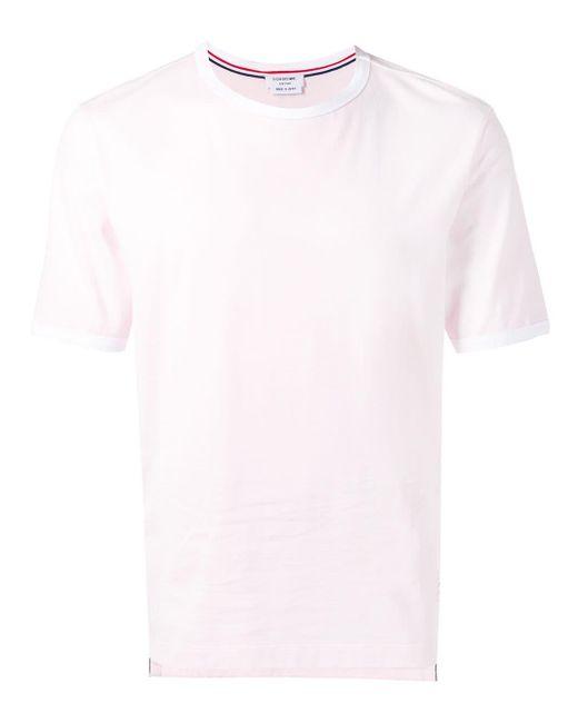 メンズ Thom Browne ライトピンク ミディアムウェイトジャージー リンガーt Multicolor