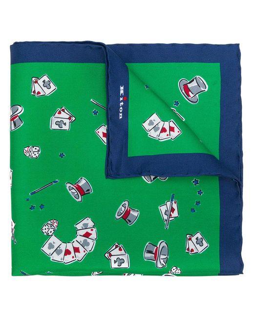 Kiton - Green Magician Print Handkerchief for Men - Lyst