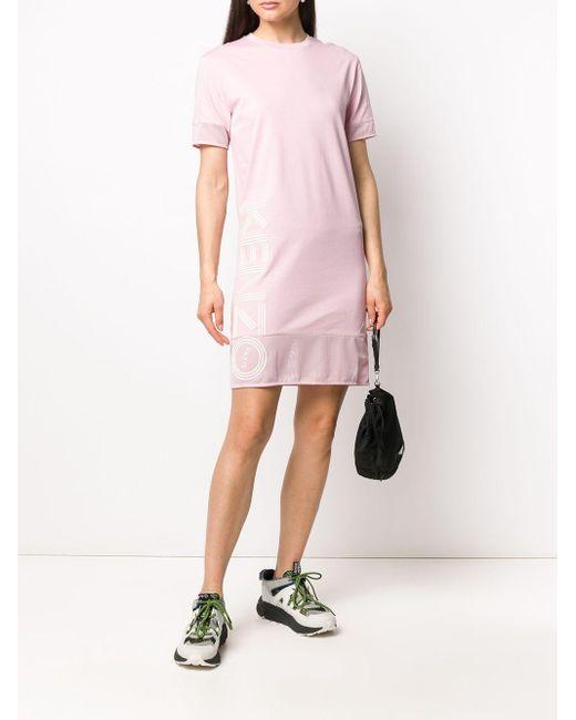 KENZO ロゴ シャツドレス Pink