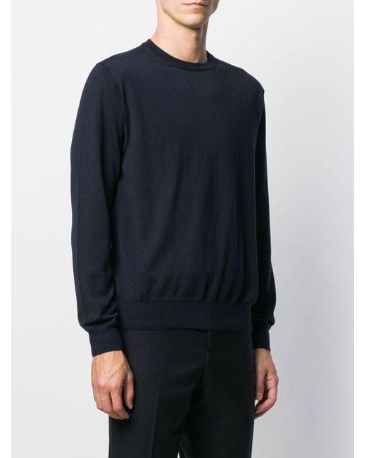 メンズ Canali カシミア クルーネックセーター Blue