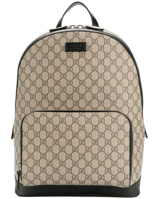 Gucci - Brown GG Supreme Backpack for Men - Lyst ... 3b412c2271
