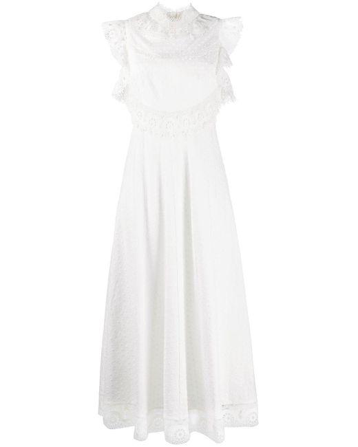 Zimmermann White Laser-cut Lace Dress