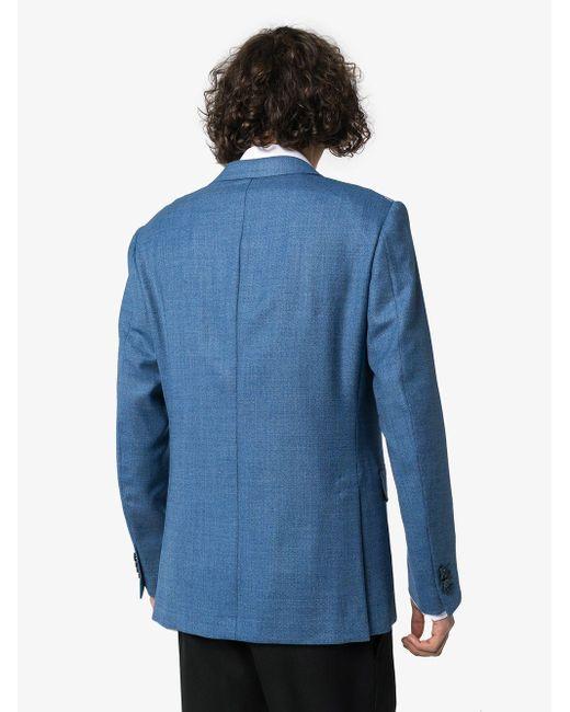 Пиджак Строгого Кроя Ermenegildo Zegna для него, цвет: Blue