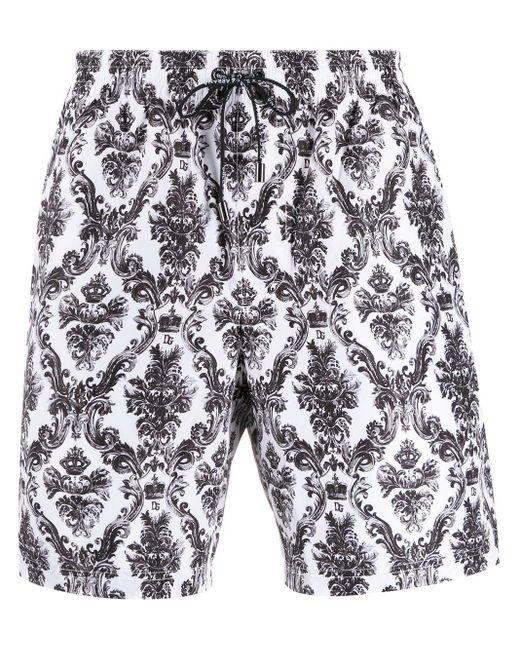 メンズ Dolce & Gabbana トランクス水着 White