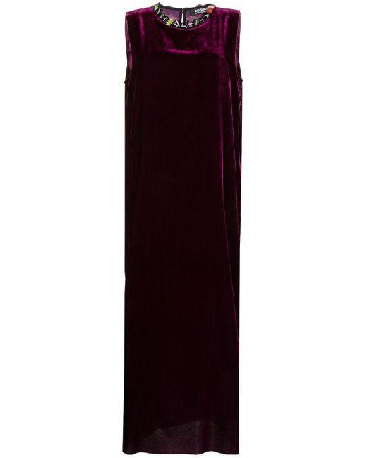 Raf Simons ベルベット ロングドレス Purple