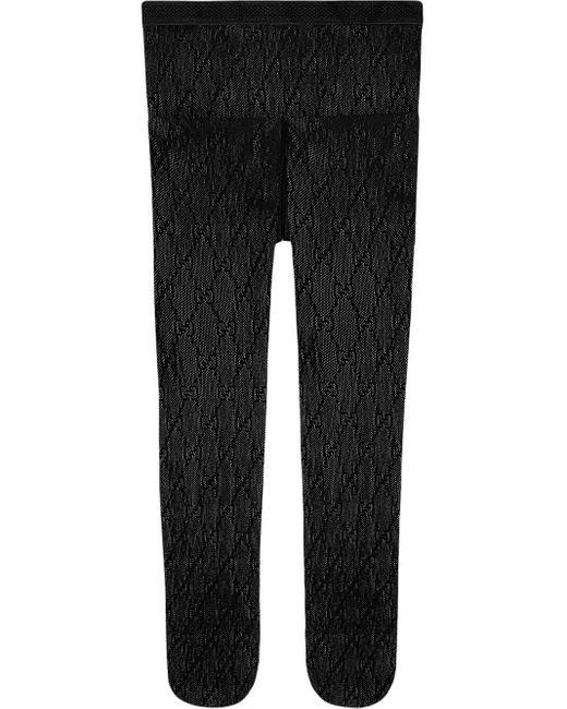 Gucci Black Interlocking G Tights