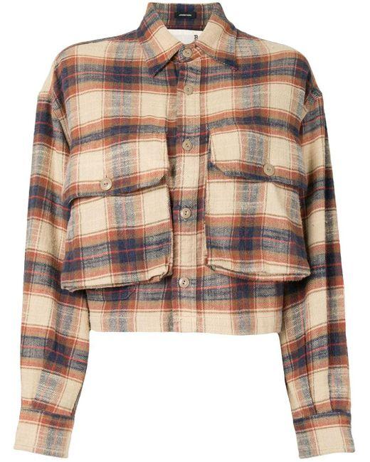 R13 フラップポケット チェックシャツ Multicolor