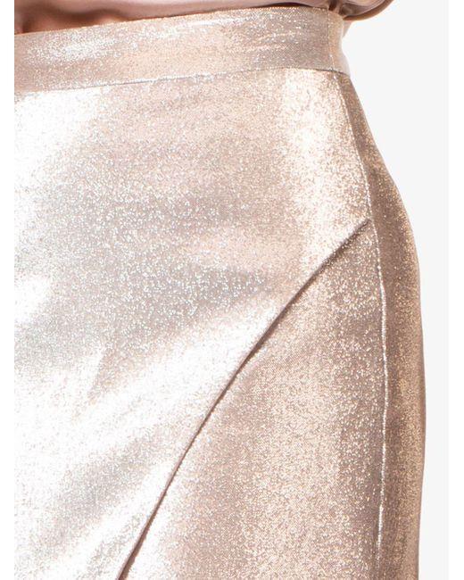 Michelle Mason ラップ ミニスカート Metallic