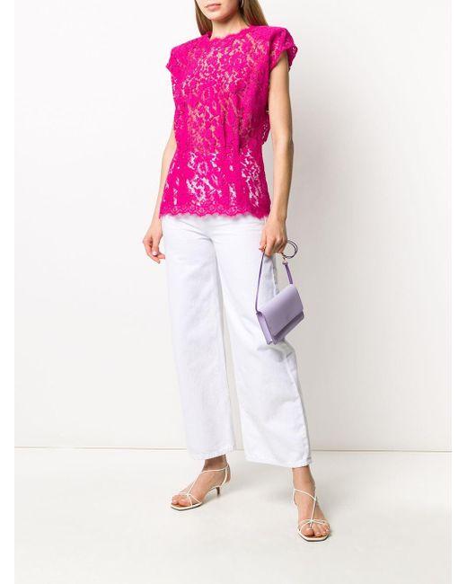 Блузка Из Цветочного Кружева Dolce & Gabbana, цвет: Pink