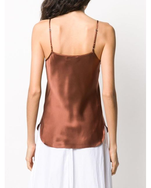 Lee Mathews Top tipo camisola de mujer de color marrón