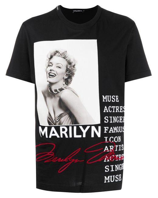 メンズ Dolce & Gabbana Marilyn Tシャツ Black