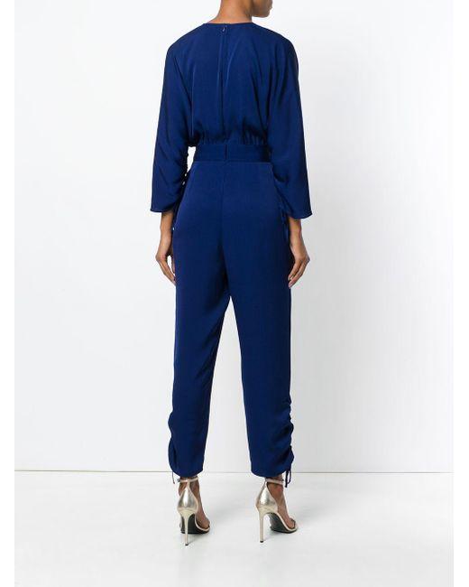 Stella McCartney Vネックジャンプスーツ Blue
