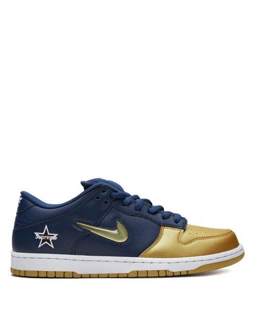 Zapatillas SB Dunk Low OG de x Supreme Nike de color Blue