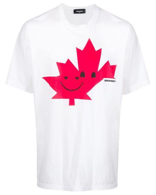 メンズ DSquared² リーフプリント Tシャツ Multicolor