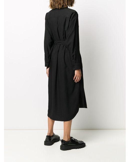 KENZO ベルテッド シャツドレス Black