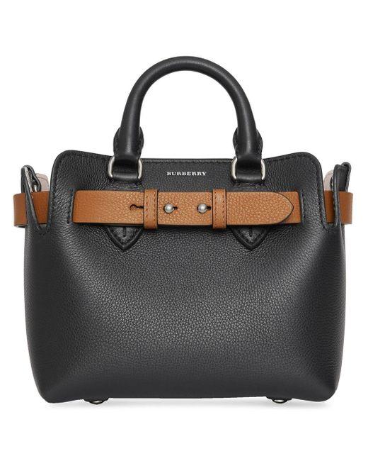 Маленькая Сумка-тоут Belt Burberry, цвет: Black