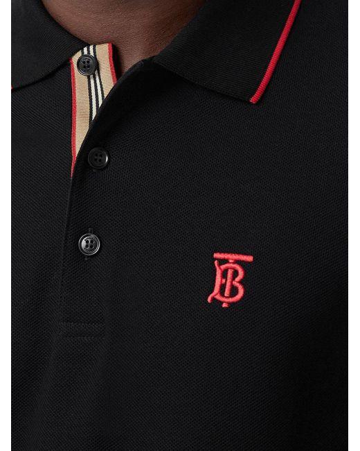 メンズ Burberry モノグラム ポロシャツ Black