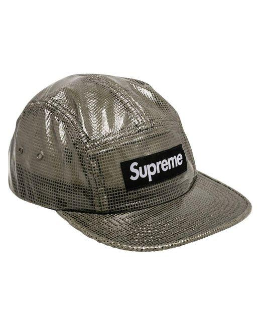 Supreme ロゴ キャップ Black