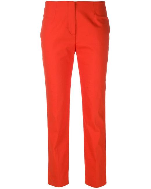 Les Copains Red Skinny Trousers